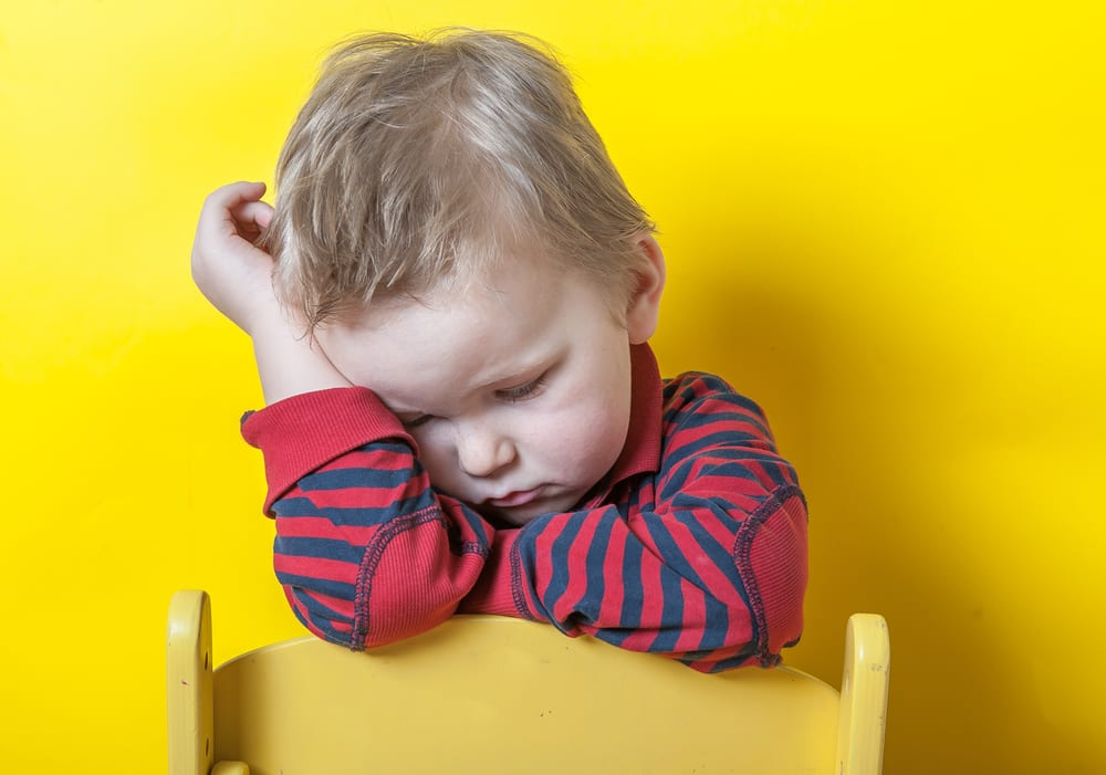 Tired Toddler asleep at lunch