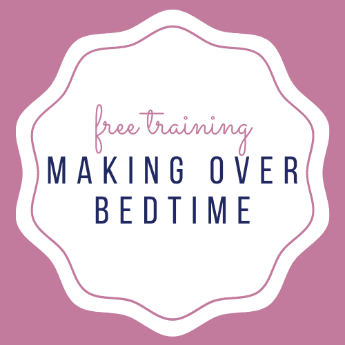Making over bedtime sleep training