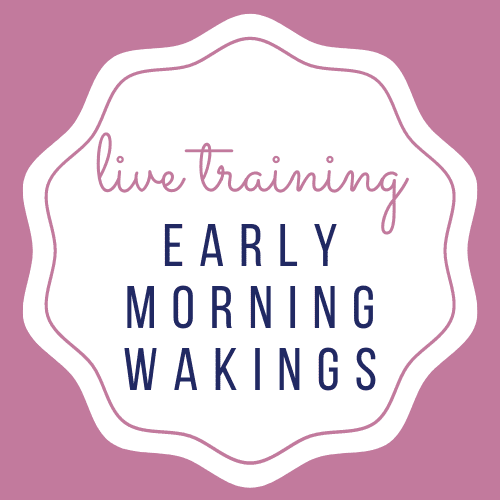 Early Morning Waking's Live Training + Q&A